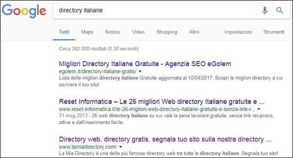 SEO & SEM Magazine: ricerca directory italiane