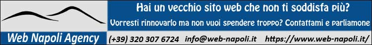 Web Napoli Agency: Hai un vecchio sito web che non ti soddisfa più? Vorresti rinnovarlo ma non vuoi spendere troppo? Contattami e parliamone